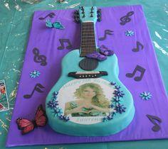 Guitar cake - Taylor Swift theme this is so going to be jasmines cake! Taylor Swift Cake, Taylor Swift Party, Taylor Swift Birthday, Taylor Swift Guitar, 10th Birthday Parties, Birthday Celebration, 3rd Birthday, Jasmine Cake, Ariana Grande