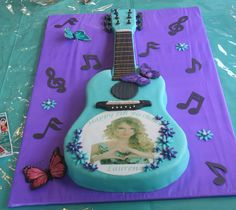 I want this for my next birthday:D Guitar cake - Taylor Swift theme