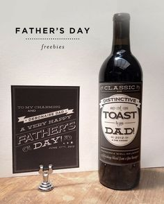 Free Father's Day Printable Cards And Labels - Cards, beer and wine bottle labels, and even sock band labels!