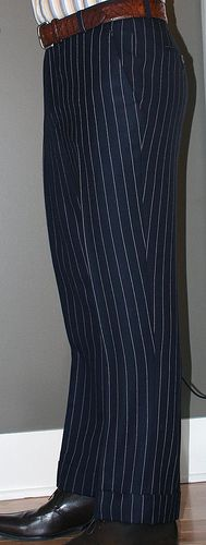 Bespoke trousers, with even the stripes matching up