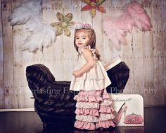 Pretty in Pink Flutter Sleeve Top and Ruffle by rosieposiegifts, $107.00