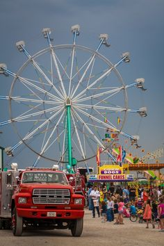 Ferris wheel and the Midway, it's where the teenagers flock at the fair to win prizes impress their girlfriends and hang out. It's the biggest social event of the year.