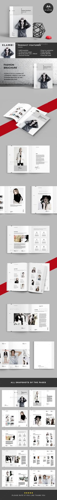 The Fashion Brochure — InDesign INDD #brochure #delicate • Download ➝ https://graphicriver.net/item/the-fashion-brochure/19128058?ref=pxcr
