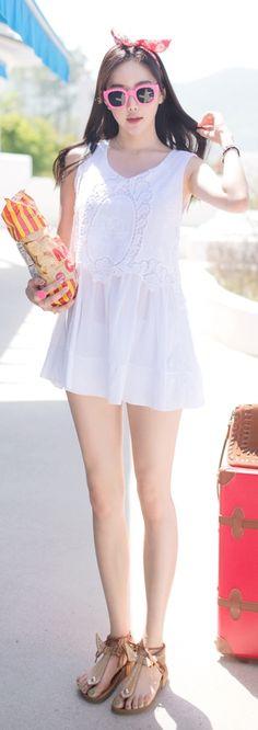 Luxe Asian Korean Women Fashion Syuen Ivory Blouse