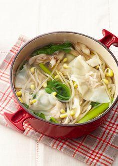 あったか水餃子鍋 のレシピ・作り方 │ABCクッキングスタジオのレシピ | 料理教室・スクールならABCクッキングスタジオ