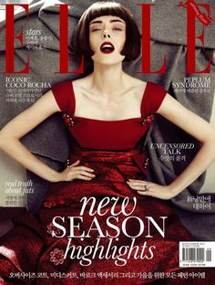 Coco Rocha 2012 September cover Elle Korea and another of her fabulous expressions in silent film style Fashion Magazine Cover, Fashion Cover, Magazine Covers, Fashion Images, Fashion Models, High Fashion, Artist Fashion, Korean Fashion, Fade Styles