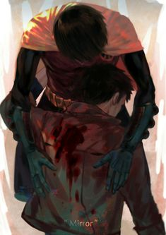 A reflection of inner turmoil and self hatred. Damian Wayne and Jason Todd