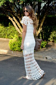 casual crochet wedding dress