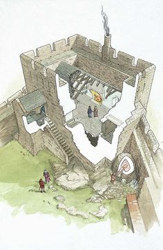 Reconstruction of the main hall, Dolwyddelan Castle, later 13th century