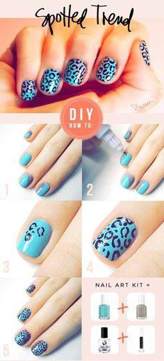 DIY nail design (: