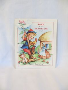 Jack on the Beanstalk Birthday Card / Story Book by TheLostKey