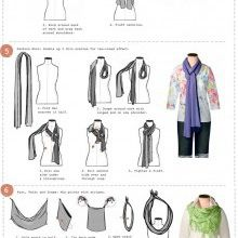How to tie a scarf