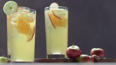 Hard Cider Sangria - Hard Cider, Apple Brandy, lemon Juice, Apple Juice, Orange, Apple