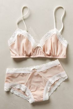 w-hitefawn: Hanky Panky, Sheer Fawn Collection @ Anthropologie