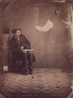 Vintage Spirit Photography a hoax using double negative photography....otherwise, it would be very creepy!