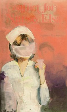 richard prince -  nurse elsa -ink jet and acrylic on canvas - 2002