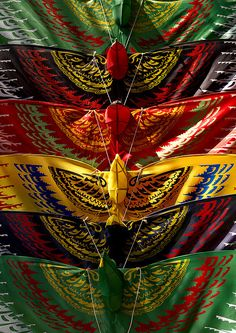 Colourful kites, Java, Indonesia
