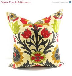 Amazing ON SALE Outdoor Pillow Cover. Floral. Sun By TwistedBobbinDesigns