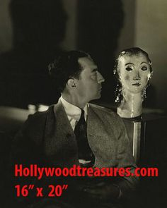 """Buster Keaton~Mannequin head~Silent Film Comedian~Poster~Photo~ 16"""" x  20"""""""