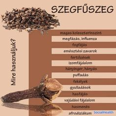 💕💖Szegfűszeg Forever Living Products, Doterra Oils, Healthy Beauty, Health Eating, Natural Cosmetics, Jaba, Vegan Recipes Easy, Natural Living, Healthy Drinks