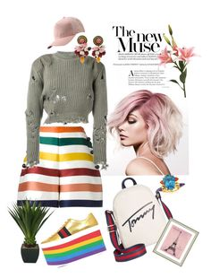 """Untitled #14"" by fashionnib on Polyvore featuring Gucci, Carolina Herrera, Calvin Klein, adidas Originals, Dolce&Gabbana, Tommy Hilfiger, Maiko Nagayama and Vintage Print Gallery"
