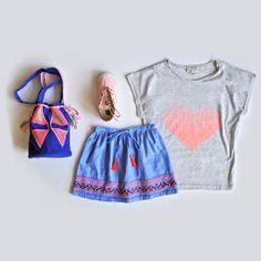 Bonheur du Jour skirt + Gro t-shirt + Veja Transatlantico + Inca bag C de C  > http://www.mylittlesquare.com/en/