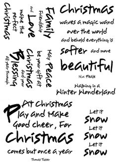 Card-io Collection Clear Stamps Winter Wishes 2 3 Christmas Sentiments