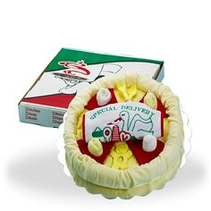 The Yummiest Pizza Delivery Baby Gift Set Price: $50.00 #GiftBaskets4Baby #Neutral #boys #girls #gifts #giftbaskets #Baby For more information visit: www.GiftBaskets4Baby.com