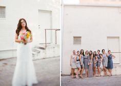 Colorful Geometric Wedding: Jennifer + Anthony