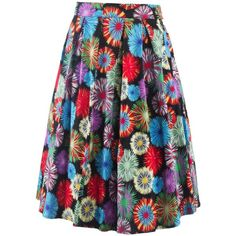 Vintage Fireworks Flower Print High Waisted Long Skirt (73 PLN) ❤ liked on Polyvore featuring skirts, long skirts, high waisted long skirts, high-waist skirt, vintage skirts and patterned maxi skirt