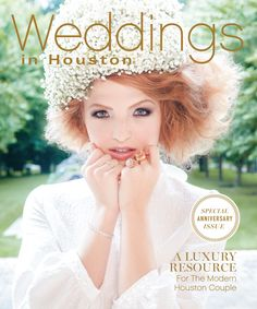 Our spectacular July 2017 cover! Jewelry: Loggins Jewelers, Floral Headpiece: Dream Bouquet, Photo: Larry Fagala, Styling: Summar Salah, Hair: Dennis Clendennen, Makeup: Victoria Callaway, Dress: Simon Rocha from Saks Fifth Avenue