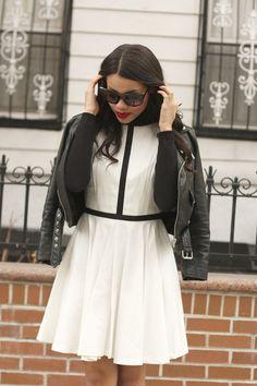 #noiretblanc #whatwerewearing #blacknwhite #spring # dress @B B DAKOTA
