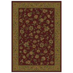 Shaw Living Alice 5 Ft 3 In X 7 Ft 10 . GarnetArea Rugs