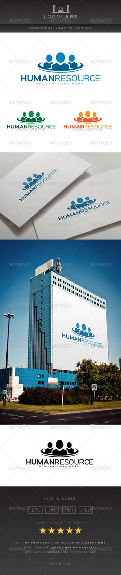 Human Resource Logo — Photoshop PSD #job #management • Available here → https://graphicriver.net/item/human-resource-logo/8615889?ref=pxcr