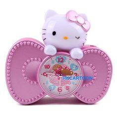 New Hello Kitty 4 LED Sparkling Alarm Clock 6 Melody Chimes 5298 2 | eBay