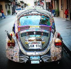 *VW bling* now that's what I'm talking about! Looks like it's parked in the French Quarter in Nawlins.  Ready for a parade!