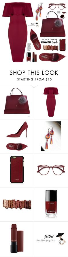 """What's Your Power Look? JetSetShop!"" by samra-bv ❤ liked on Polyvore featuring Carbotti, Sergio Rossi, Vianel, EyeBuyDirect.com, Urban Decay, Chanel, Nordstrom, Summer, bag and earrings"