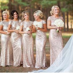 love the bridesmaid dresses bridesmaid dresses by http://loverdress.storenvy.com/collections/416341-bridesmaid-dresses/products/3749506-sequin-bridesmaid-dress-short-sleeve-bridesmaid-dresses-gold-bridesmaid-dr