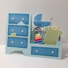Dresser / stair step card using something for baby
