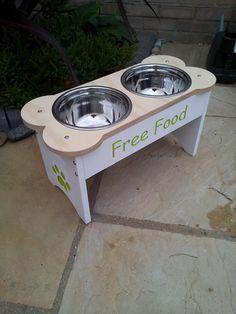 Dog bowl design raised dog bowls bespoke dining for dogs