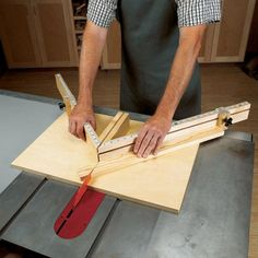 Shopmade Tablesaw Miter Sled Woodworking Plan, Workshop & Jigs Jigs & Fixtures Workshop & Jigs $2 Shop Plans