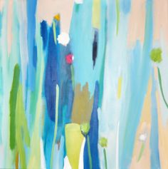 Abstract Colorful contemporary modern canvas by SofiesGallery, $120.00