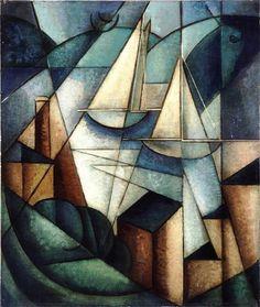 Jean Metzinger - Sailboats (Scène du port), ca. 1912