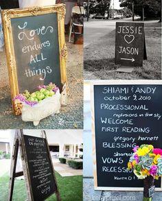Blackboard Wedding Ideas {Wedding Decoration Inspiration}