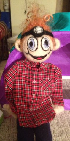 Oh look! Little Hiddles has a red plaid shirt just like Tom - Big Hiddles!