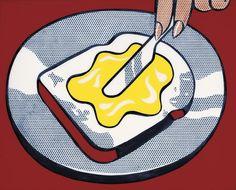 Mustard on White - Roy Lichtenstein Pop Art Roy Lichtenstein Pop Art, Robert Rauschenberg, Jasper Johns, Arte Pop, Andy Warhol, Fiesta Pop Art, Juan Sanchez Cotan, Pop Art Food, Richard Hamilton