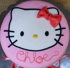 Fondant Hello Kitty Cake Topper