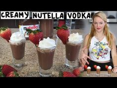 The Creamy Nutella Vodka concoction is great for shots or cocktails. This drink combines the effects of alcohol with the delicious flavors of nutella. Vodka Cocktails, Cocktail Drinks, Alcoholic Drinks, Tipsy Bartender, Nutella Drink, Oreo Shake, Shot Recipes, Drink Recipes, Cocktail