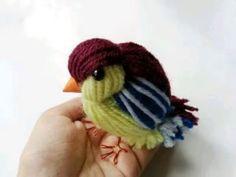 Птичка из ниток. Birdie from theads. - https://www.youtube.com/watch?v=H3T_pj2mYPo