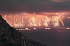 Long-exposure lightning. Sick!
